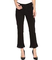 NYDJ - Billie Ankle Bootcut Jeans w/ Fringe Hem in Black