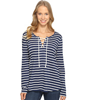 NYDJ - French Terry Lace-Up Top