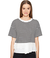 Boutique Moschino - Striped Top w/ Bottom Ruffle