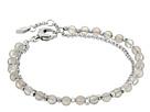 Silver Semi-Precious Double-Chain Bracelet
