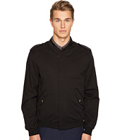 The Kooples - Cupro Jacket with Zip and Officer Style Collar