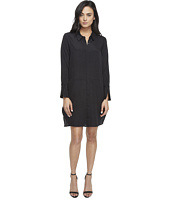 Halston Heritage - Long Sleeve Shirtdress w/ Wide Cuff