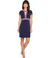 MICHAEL Michael Kors - Border Print Combo Matte Jersey Dress