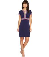 MICHAEL Michael Kors - Border Print Combo Matte Jersey Dress