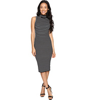 MICHAEL Michael Kors - Neck Stripe Rib Dress