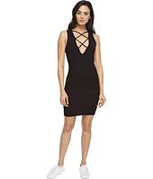 LNA - Lace-Up V Dress