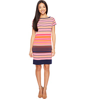 MICHAEL Michael Kors - Abbey Short Sleeve Boat Neck Border Dress