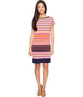 MICHAEL Michael Kors - Abbey Short Sleeve Boat Neck Border Dress