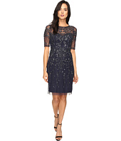 Adrianna Papell - 3/4 Sleeve Fully Beaded Cocktail Dress