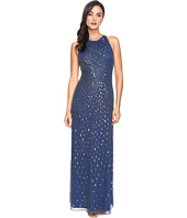 Adrianna Papell - Strappy Halter Gown with Radiating Beading
