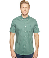 U.S. POLO ASSN. - Short Sleeve Single Pocket Slim Fit Solid Sport Shirt