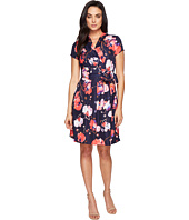 Ellen Tracy - Floral Print Wrap Dress
