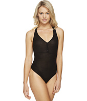 Only Hearts - Feather Weight Rib Henley Racer Bodysuit