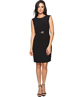 Tahari by ASL - Crepe Sheath with Seamed Bodice and Hardware