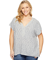 NYDJ Plus Size - Plus Size Lace-Up Tunic Sweater