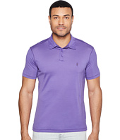John Varvatos Star U.S.A. - Matte Sheen Soft Collar Peace Polo with Peace Sign Chest Embroidery K1381T1B