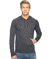 John Varvatos Star U.S.A. - Space Dyed Pullover Hoodie Sweater with Metal Tipped Drawcord Y1477T1B