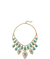 Lucky Brand - Etched Turquoise Drop Bib Necklace