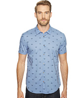 John Varvatos Star U.S.A. - Mayfiled Slim Fit Sport Shirt with Cuffed Short Sleeves W443T1B