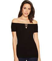 Michael Stars - 2X1 Rib Front To Back Off Shoulder Top