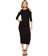Michael Stars - Cold Shoulder Midi Dress w/ Shirring