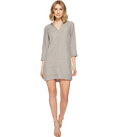 Michael Stars - Linen 3/4 Sleeve Dress w/ Frayed Edges