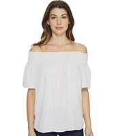 Michael Stars - Double Gauze Smocked Off Shoulder