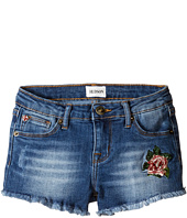 Hudson Kids - Fray Hem Shorts with Embroidery in Cloud Wash (Toddler/Little Kids)