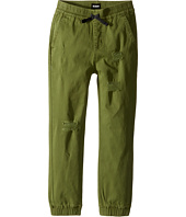 Hudson Kids - Destructed Twill Slim Jogger in Olive Green (Toddler/Little Kids/Big Kids)