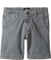 Hudson Kids - Sunny Pigment Dyed Twill Shorts in Medium Grey (Toddler/Little Kids/Big Kids)