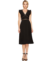 Kate Spade New York - Pleated Stud Crepe Dress
