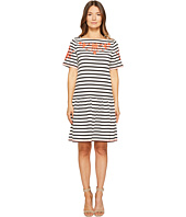 Kate Spade New York - Stripe Embroidered Dress