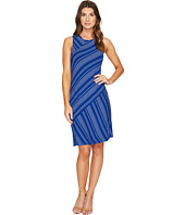 Mod-o-doc - Boardwalk Stripe Asymmetrical Seamed Tank Dress