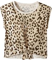 Chaser Kids - Super Soft Vintage Jersey Tie Front Cap Sleeve Tee (Toddler/Little Kids)