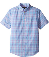 Polo Ralph Lauren Kids - Yarn-Dyed Poplin Short Sleeve Button Down Shirt (Big Kids)