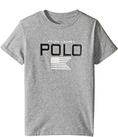 Polo Ralph Lauren Kids - Cotton Poly Graphic Crew Neck T-Shirt (Little Kids/Big Kids)