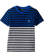 Polo Ralph Lauren Kids - Yarn-Dyed Slub Jersey Pocket Tee (Little Kids/Big Kids)