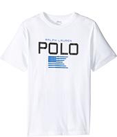 Polo Ralph Lauren Kids - Cotton Poly Graphic Crew Neck T-Shirt (Big Kids)