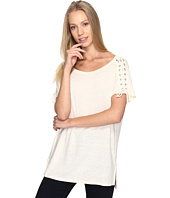 NYDJ - Greenwich Lace-Up Sleeve Tee