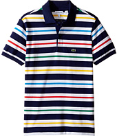 Lacoste Kids - Short Sleeve Multicolor Stripe Polo (Infant/Toddler/Little Kids/Big Kids)