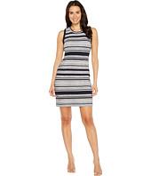 Karen Kane - Indigo Stripe Jacquard Dress