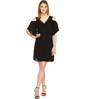 Karen Kane - Neck Trim Cold Shoulder Dress