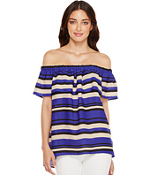 Vince Camuto - Kalari Stripe Ruffle Off Shoulder Blouse