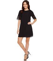 Vince Camuto - Short Sleeve Embroidered Shift Dress