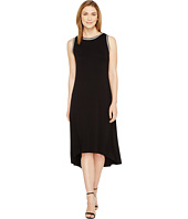 Vince Camuto - Sleeveless High-Low Hem Dress with Embroidered Neck/Armhole