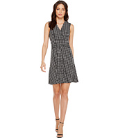 Vince Camuto - Sleeveless Sahara Tracks Belted Wrap Dress