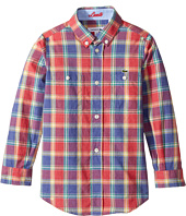 Lacoste Kids - Long Sleeve Plaid Shirt (Little Kids/Big Kids)
