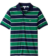 Lacoste Kids - Short Sleeve Jersey Stripe Polo (Infant/Toddler/Little Kids/Big Kids)