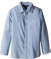 Polo Ralph Lauren Kids - Lightweight Cotton Button Front Shirt (Little Kids)