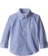 Ralph Lauren Baby - Poplin Long Sleeve Button Down Top (Infant)